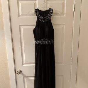Navy blue floor length formal dress size 10